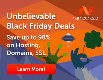Namecheap Black Friday Sale 2017